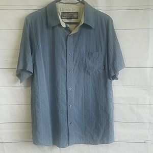 Prana mens button up shirt blue size medium